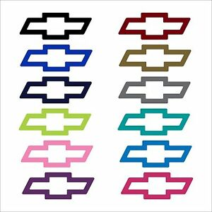 Chevrolet Chevy Bowtie Decal Many Colors And Sizes Ebay