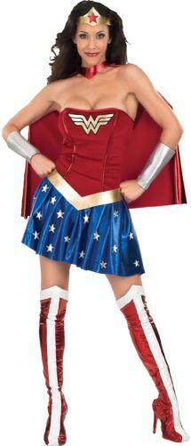 Ladies DC Wonder Woman Comic Film Hero Carnival Fancy Dress Costume Outfit 8-18