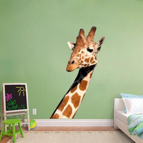 Giraffe Head Decal Removable Graphic Wall Sticker Home Decor Art Animals 002