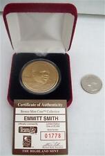 HIGHLAND MINT BRONZE MEDALLION EMMITT SMITH LIMITED EDITION COA 01778/25000 COIN