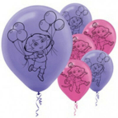 Dora the Explorer Birthday Party Latex Balloons - 6ct -12 inch