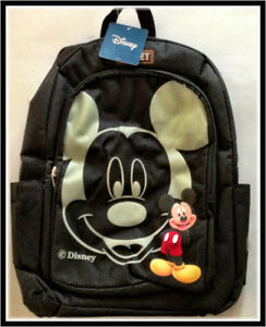 TOPOLINO-Zaino-Nero-Originale-Mickey-Mouse-Scuola-Backpack-NUOVO-NEW