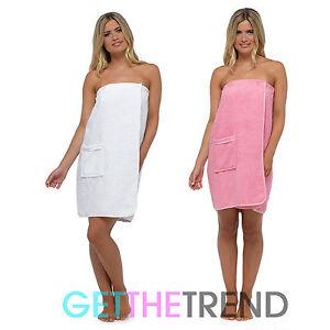 Womens Wrap Towel Ladies Toweling Shower Sauna Spa Cover Up Dress Towels