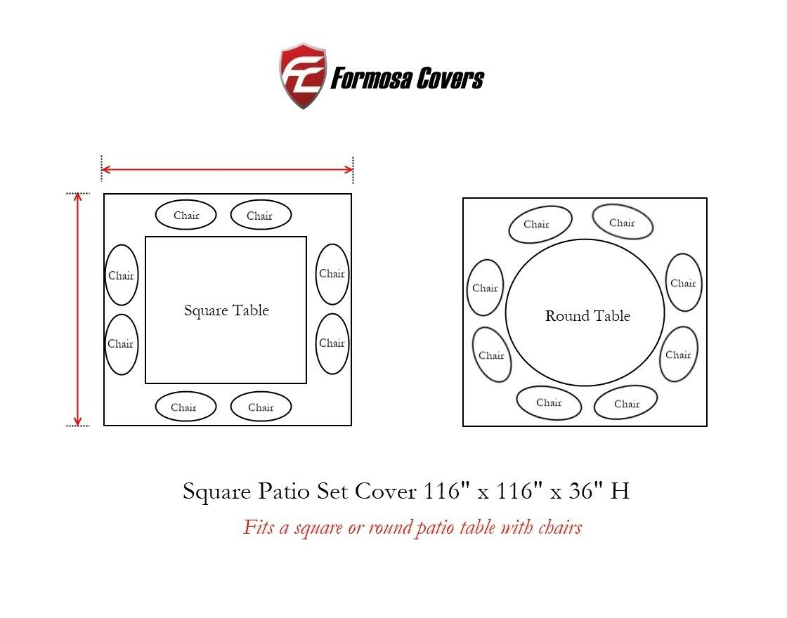 116 x116    Square or Round Table and Chairs Set Cover 084ef8