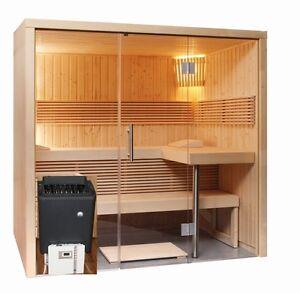 Cabina sauna saunabausatz Stufa COMANDO VETRO ANTERIORE elemento eBay