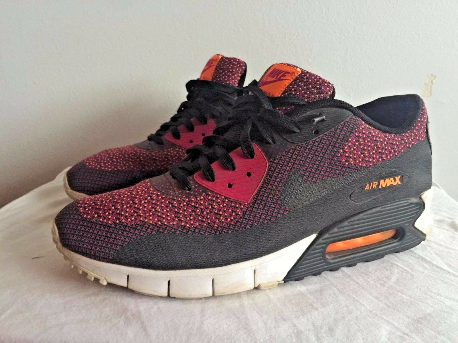 NIKE AIR MAX 90 JACQUARD MAGENTA BLACK orange ANTHRACITE Rare Size 13
