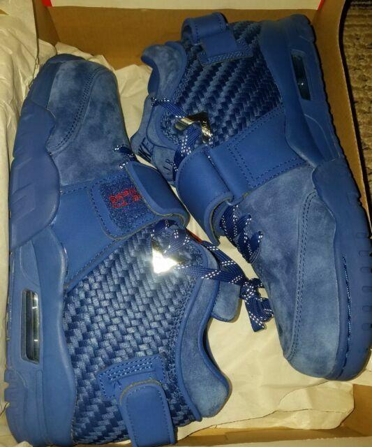 Nike Air Trainer Victor Cruz PRM Premium Rush Blue Gym Red NY Giants 812637-400