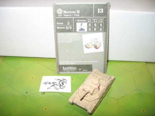 Axis /& Allies North Africa 1940-1943 Matilda II with card 16//60