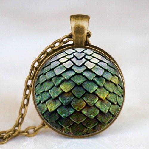 Game of Thrones Drachen Ei Halskette Bronze oder Silber Handarbeit Targaryen