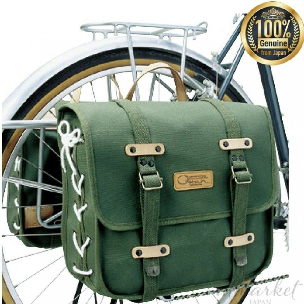 NEW OSTRICH side bag DLX green single item (one side) Bicycle YD-111 from JAPAN