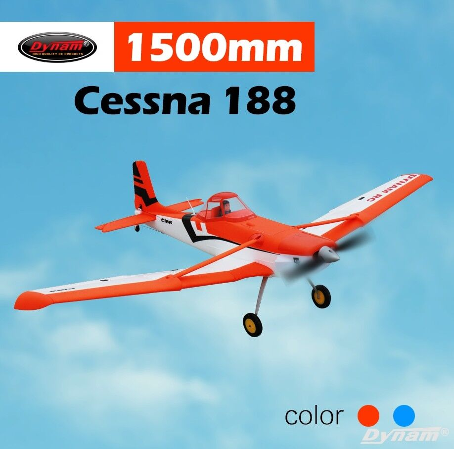 Dynam RC Airplane Scales Cessna 188 orange 1500mm Wingspan - SRTF