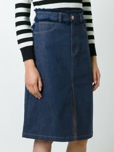 289c0e4a8577c Image is loading See-By-Chloe-Frayed-Edge-Denim-Skirt-Size-