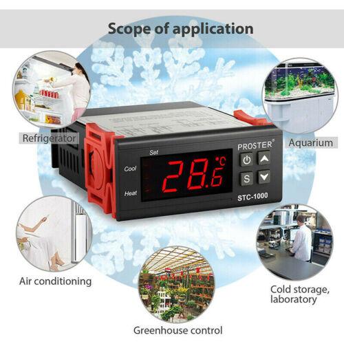 Digital 220V STC-1000 Temperature Controller Thermostat Regulator+Sensor OIUK