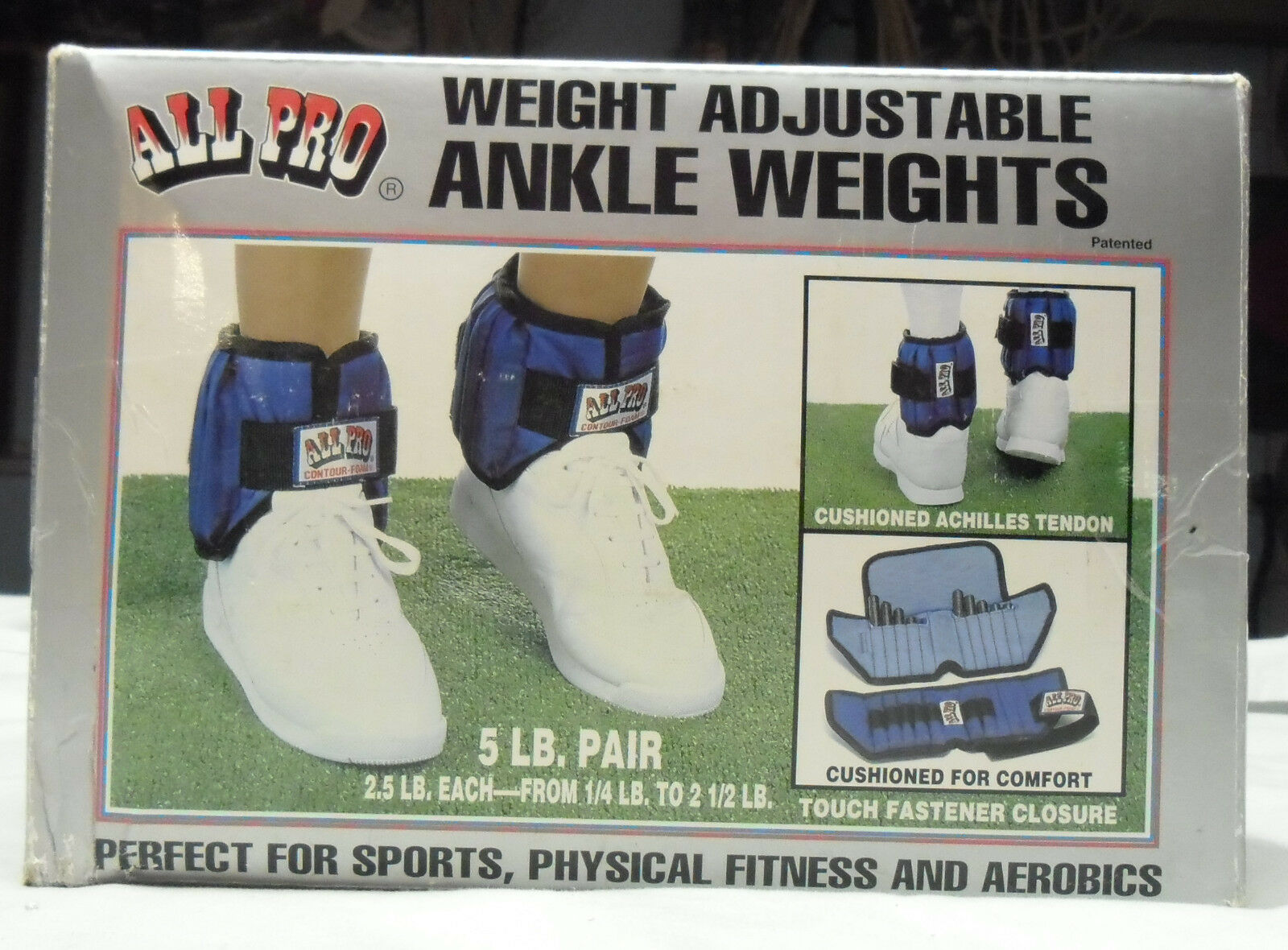 All Pro 5-lb Ankle Weights 4oz Incremetally Adjustable to 2.5-lbs each ankle