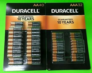 60 AA & 40 AAA Duracell Alkaline 1.5v Battery Lot Exp. 2028 (Packaging May Vary)