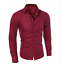 thumbnail 4 - Blouse-Men-039-s-Slim-Fit-Shirt-Long-Sleeve-Formal-Dress-Shirts-Casual-Shirts-Tops