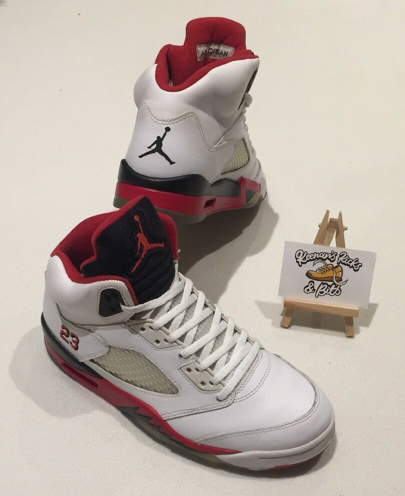 best website fc11a 7779d NIKE AIR JORDAN V FIRE RED HI TOP BASKET BALL TRAINERS RARE VINTAGE RETRO
