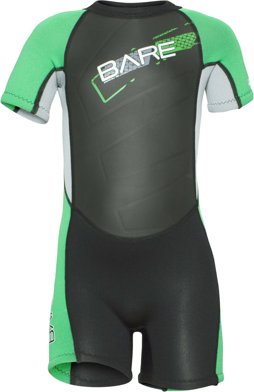 Bare Kids Tadpole WetSuit Shorty Sun Guard Swim Green  All Size 2,4,6yr  comfortable