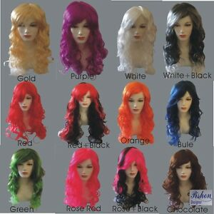 Women-039-s-Sexy-Long-Curly-Fancy-Dress-Wigs-Cosplay-12-Color-Ladie-Full-Wig-Party