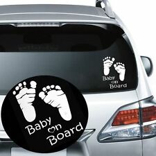 Baby On Board Feet Foot Prints Car Window Sticker Decal Graphic Vinyl Bumper New