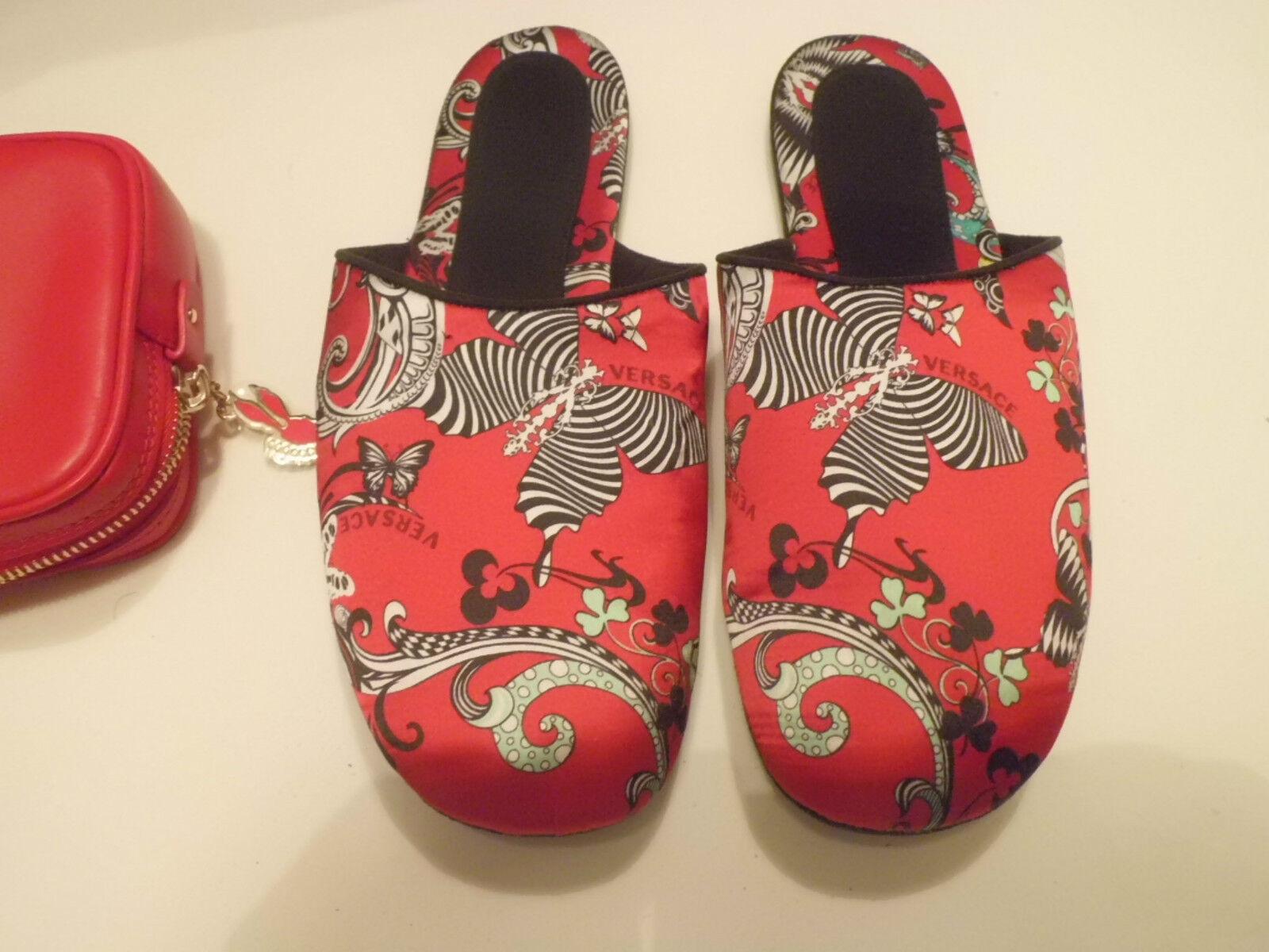 Autentico VERSACE Bellezza Calf Silk Slippers Dimensiones 39  440,00   moda classica