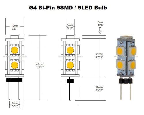 4-G4 Basse Tension Paysage lumière DEL conversion 9 blanc froid DEL Par Ampoule