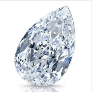 White-Zircon-50-80ct-18x25mm-Pear-Faceted-Cut-Shape-AAAAA-VVS-Loose-Gemstone