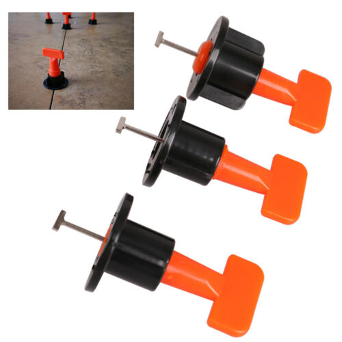 50//200x Reusable Anti-Lippage Tile Leveling System Positioning T-lock Floor Tool