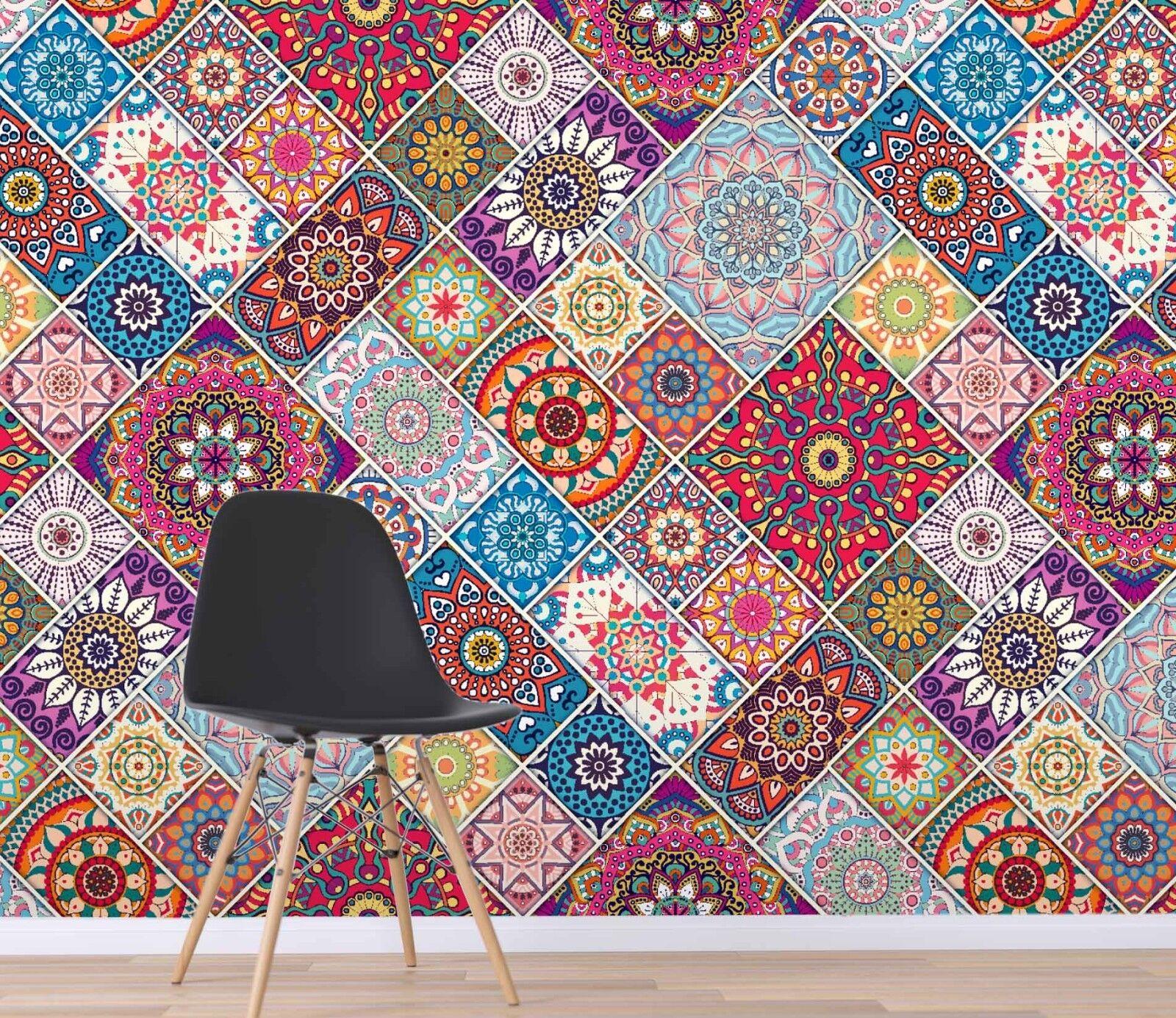 3D Farbeful Pattern 224 Wallpaper Mural Print Wall Indoor Wallpaper Murals UK