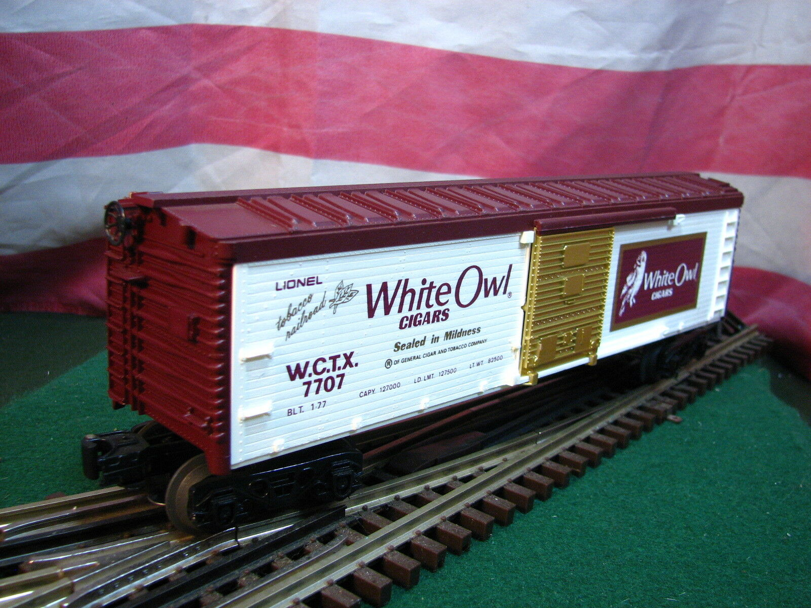 Lionel 6-7707 White Owl Cigars Tobacco Boxcar MINT in Box