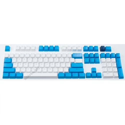 104 Key ABS Double Shot Backlit Keycap Set for Cherry MX Keyboard White-Blue
