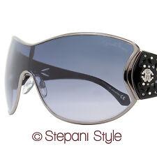 Roberto Cavalli Shield Sunglasses RC803S Alcyone 08B Gunmetal/Black 803