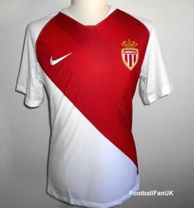 Détails sur AS monaco NIKE officiel Home Football Shirt 2018 2019 nouveau maillot domicile afficher le titre d'origine