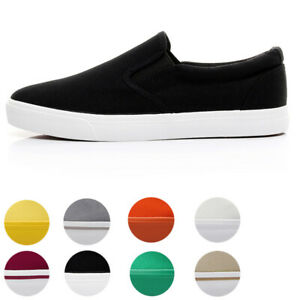 Mens-Womens-Canvas-Shoes-Casual-Classic-Skool-Skate-Low-Top-Athletic-Sneakers