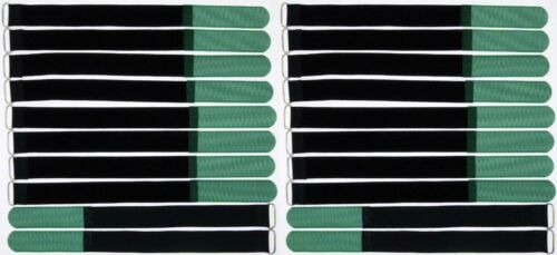 20 x nastro di velcro fascette per cavi 30 CM x 25 mm VERDE SCURO nastri velcro Cavo nastro di velcro