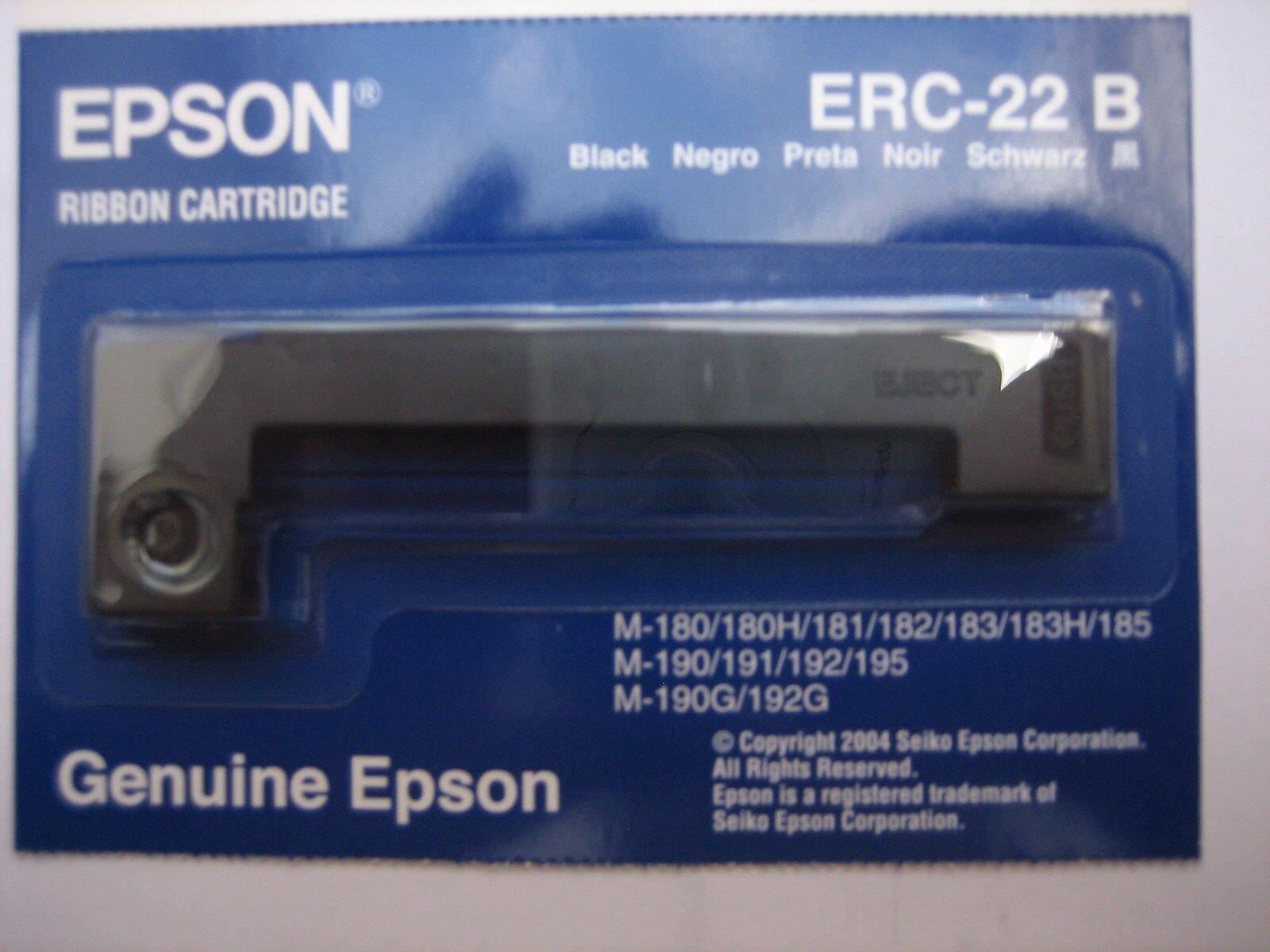 Ruban Noir Original Epson C43S015358 ERC22B Epson ERC 22