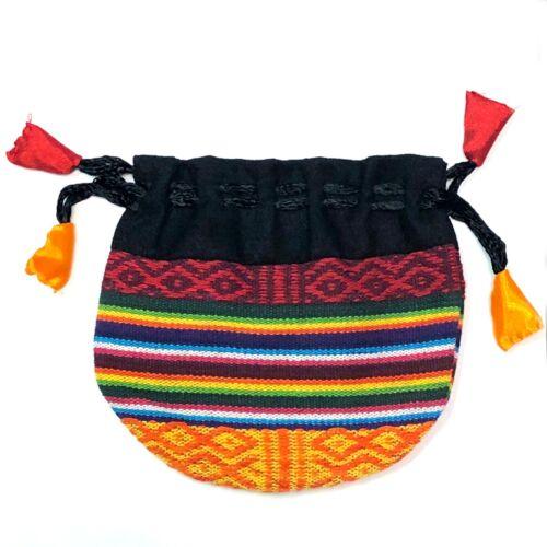 """Bhutanese Cotton Gift Bags 4/"""" Nepal Prayer Mala Nepalese Wholesale 100 pcs Pack"""