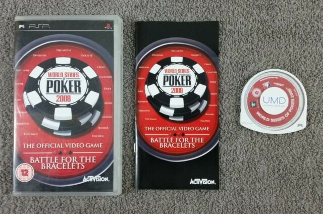 PSP WORLD SERIES OF POKER 2008 Battle for the bracelets Game region free PAL UK