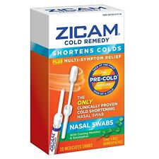 Zicam Cold Remedy Multi Symptom Nasal Swabs 20 Ct Exp 2020