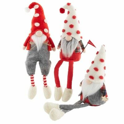 Mud Pie H0 Gnome For The Holidays 9''H Christmas Dangle Leg Gnomes Choose  Design | eBay