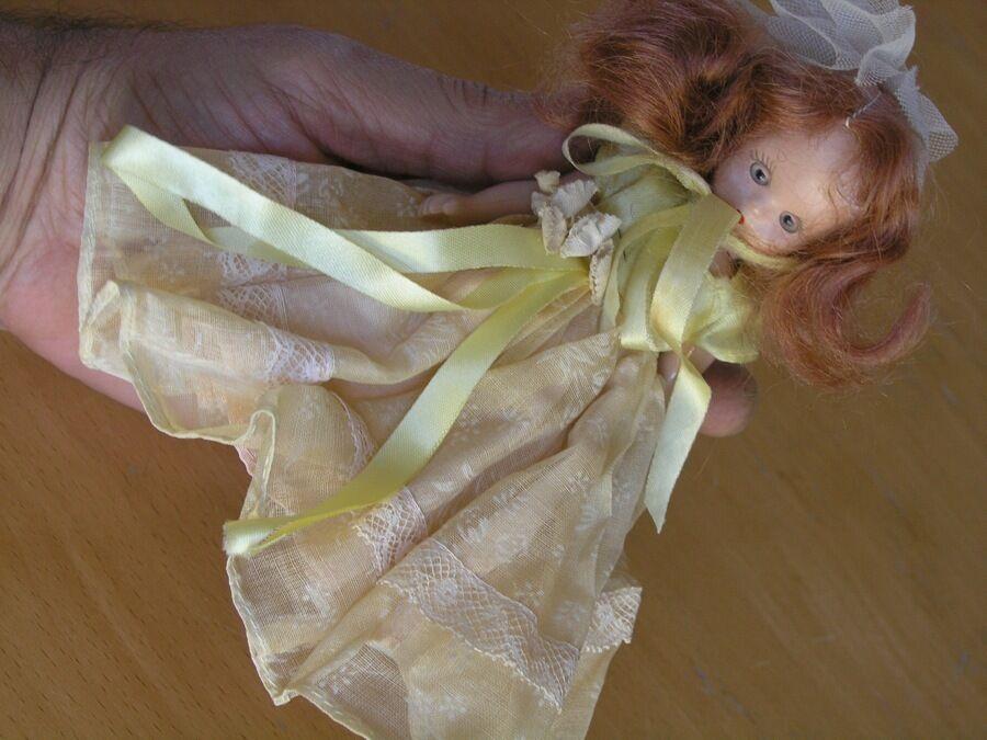Gran pequeño Vintage Muñeca Nancy Ann Historia Libro Estados Unidos Ojos Sueño Articulado 5.5