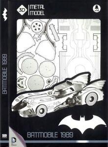 Batmam Batmobile 1989 Tim Burton Film Dc Comics Grand 1:18 3d Modèle En Métal Sd Jouets