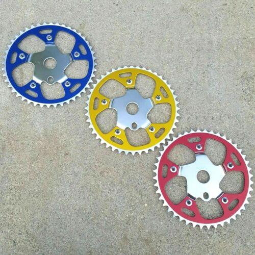 """Alloy W// Steel Chainring /& Spider Sprocket 44T 1//2/""""x1//8 BMX Bike Sprockets"""