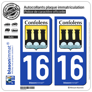 Infatigable 2 Sticker Plaque D'immatriculation Auto | 16 Confolens - Commune | 16500