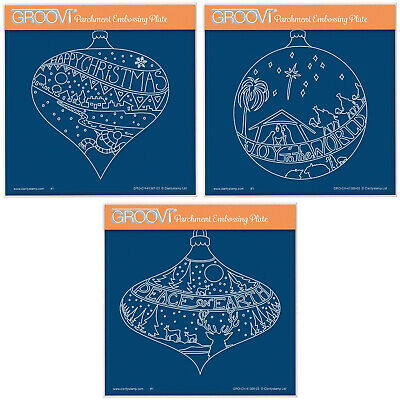Clarity Stamps Peace on Earth Bauble A5 Square Groovi Plate