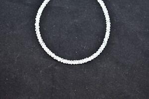 Natural-Crystal-Quartz-Rondelle-Faceted-Gemstone-Beads-7-039-039-Inch-Strand