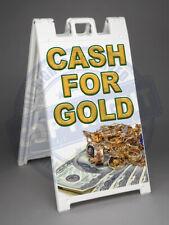 Cash For Gold A Frame Sidewalk Sign Signicade Sandwich Pavement Sign