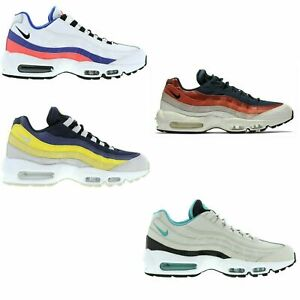 best service 9dabb 10c52 Details about Original Mens Nike Air Max 95 Essential Trainers Obsidian  Blue Grey Yellow Red