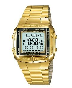 Casio-Watch-DB360G-9A-Databank-Digital-Chronograph-Gold-Steel-COD-PayPal
