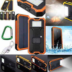 the latest 084e0 7f840 Details about Waterproof 300000mAh Portable Solar Charger Dual USB Battery  Power Bank F Phone